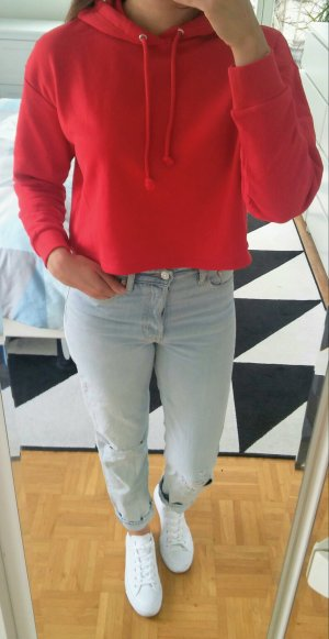 cropped Hoody in rot von H&M