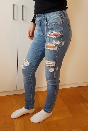 Cropped Jeans Mango collection Denim Skinny fit slim destroyed look Röhrenjeans