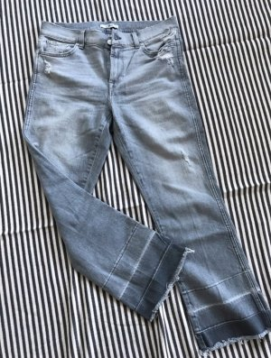 7 For All Mankind Jeans 3/4 gris clair