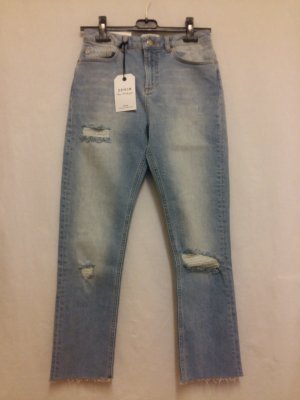 Miss Selfridge Hoge taille jeans lichtblauw-azuur Katoen