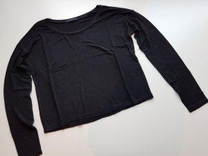 Cropped Langarm Shirt