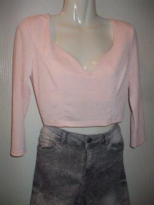 T-shirt court rosé acrylique
