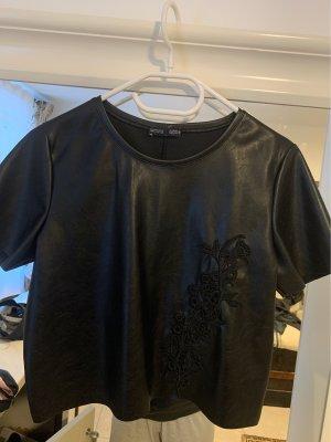 Cropped Ledershirt