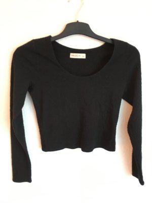 Abercrombie & Fitch Cropped Shirt black
