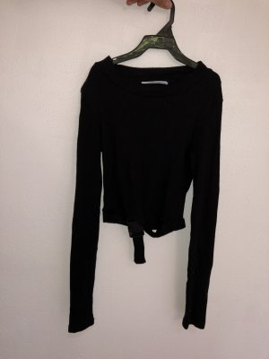 Zara Cropped Shirt black