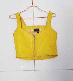 Gianni Versace Blouse en cuir jaune cuir