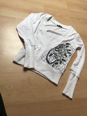 Camisa recortada blanco-blanco puro