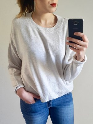 cropped pullover beige/ grau oversized