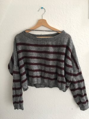 Cropped pullover gestreift