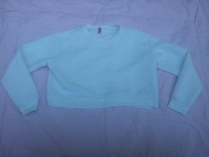 Cropped Pullover H&M weiß Bubble-Optik Gr. 44