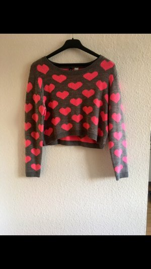 Cropped Pullover Herz