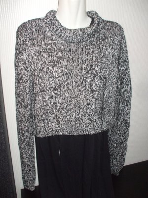 Cropped Pullover meliert