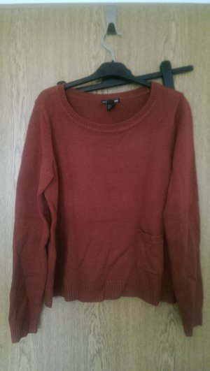 cropped Pullover rostrot