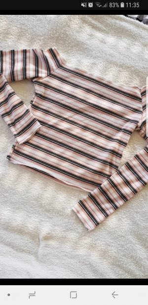 cropped Pullover XS Rosa gestreift