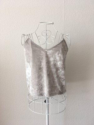 H&M Divided Cropped top zilver-lichtgrijs