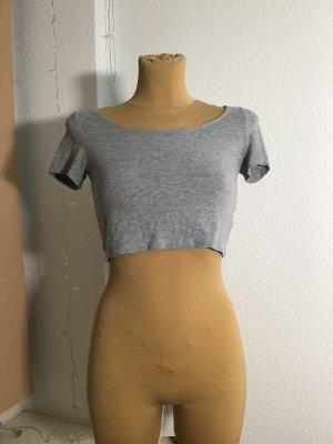 T-shirt court gris coton