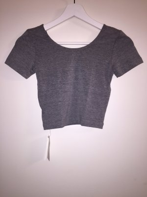 American Apparel Cropped shirt grijs