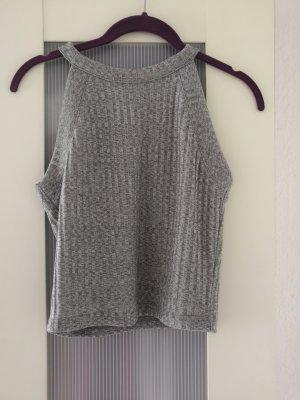 Bershka Cropped shirt grijs