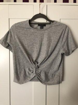 Primark Camicia cropped grigio chiaro
