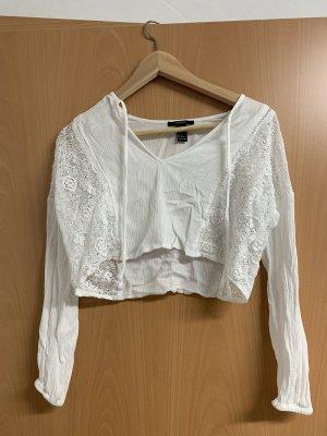 Forever 21 Crochet Shirt white