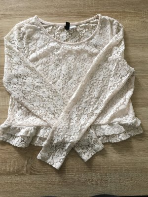 Cropped Shirt aus Spitze