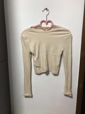 Cropped shirt Beige NEU