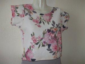Cropped shirt veelkleurig Polyester