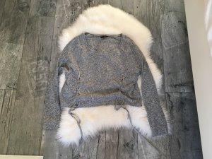 H&M Camisa recortada gris claro-gris