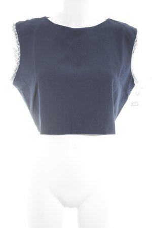 Cropped Shirt dunkelblau-weiß Casual-Look