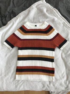 Cropped Shirt in tollen Farben und Glitzereffekt