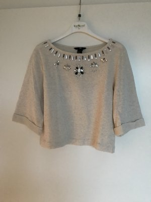 Cropped Shirt mit aufgestickten Glitzer-Ornamenten Gr. 34, XS