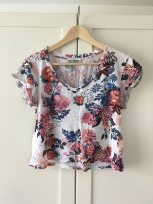 cropped Shirt mit Blumenmuster