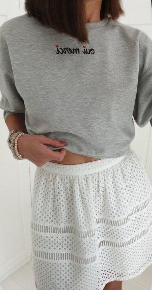H&M Cropped Shirt light grey