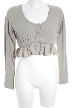 Myrine Antwerp Cropped shirt zandig bruin straat-mode uitstraling