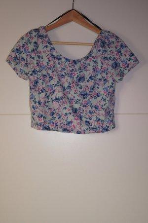 Cropped Shirt/ Top, geblümt, mit Blumenmuster von H&M