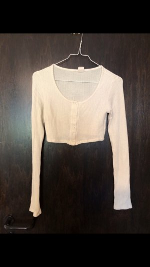 Cropped Shirt von Urban Outfitters in creme weiß