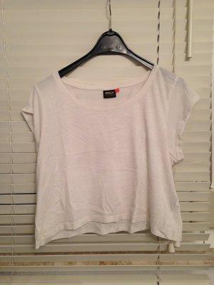 Cropped-Shirt weiß Gr. XL