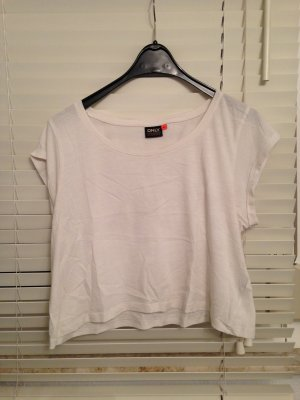 Cropped-Shirt weiß Gr. XL