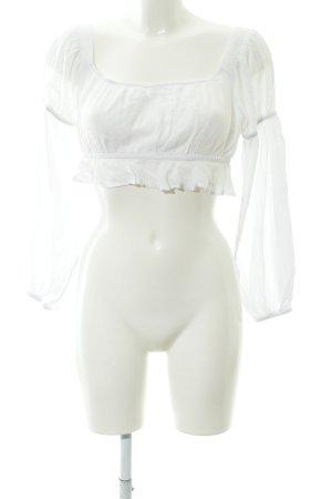 T-shirt court blanc style mode des rues