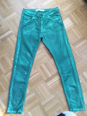 Cropped Skinny Jeans 75 Faubourg günmetallic 26