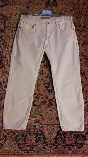 Drykorn Jeans 3/4 blanc coton