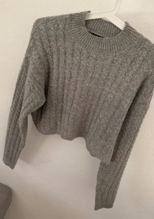 Missguided Cable Sweater grey