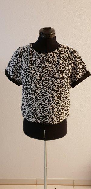 H&M Divided Camicia cropped bianco-nero