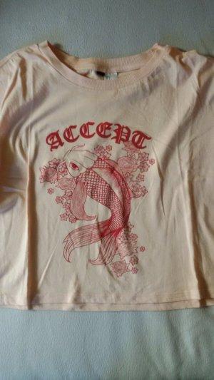 H&M Cropped shirt abrikoos-rosé