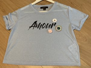 Cropped T-Shirt mit Applikationen