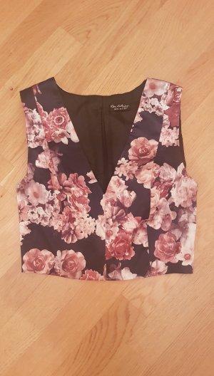 Miss Selfridge Cropped Top black-pink