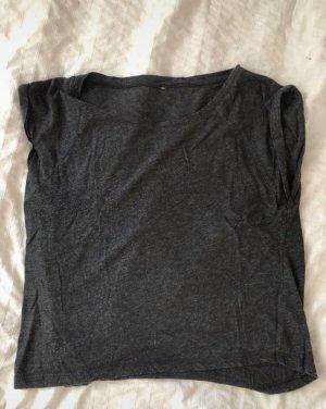 Crop-top gris anthracite