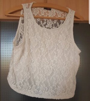 Ann Christine Crop-top blanc