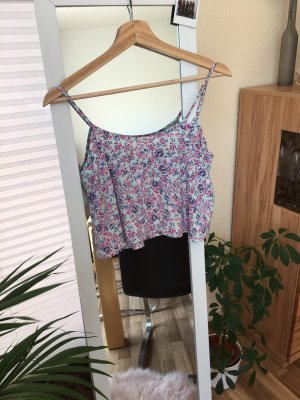 H&M Divided Top corto rosa-turchese