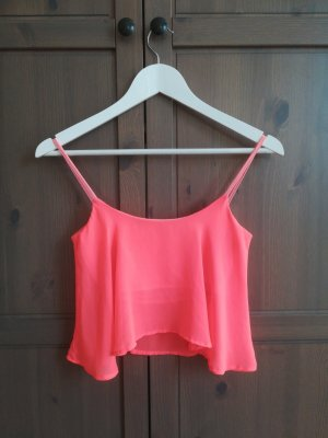 Bershka Crop-top saumon-rouge clair